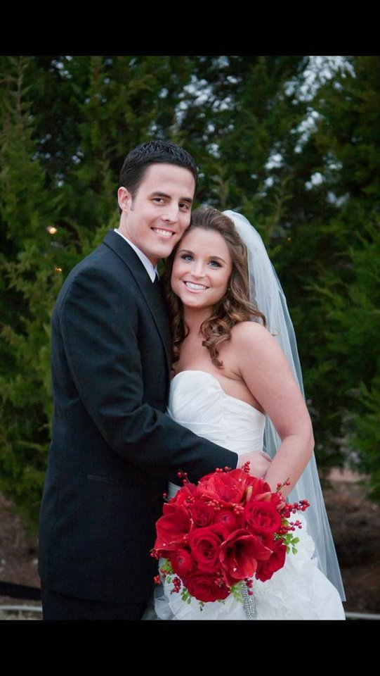 Matt and Jordyn Prince are shown in December 2012 after their wedding. According to a national online survey by Harris Poll for CareerBuilder, the office may be a good place to find one�s Valentine. Photo provided      <strong> - PHOTO PROVIDED</strong>