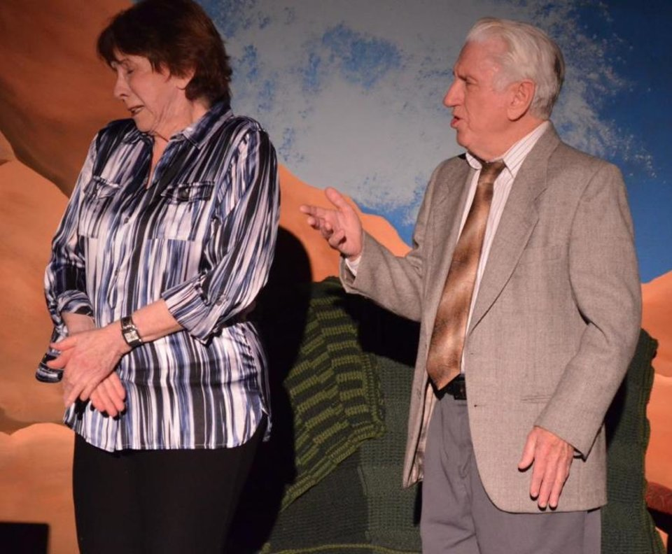 "Laurel Van Horn Jaworsky as Ralph's Sister Rose and Paul Smith as Ralph Bellini in Carpenter Square Theatre's production of ""The Last Romance."" Photo provided"
