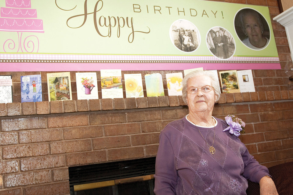 Photo - Rosemary Magee, 84, celebrates her 21st Leap Day birthday at a party in Edmond. Photo by Steven Maupin, For The Oklahoman