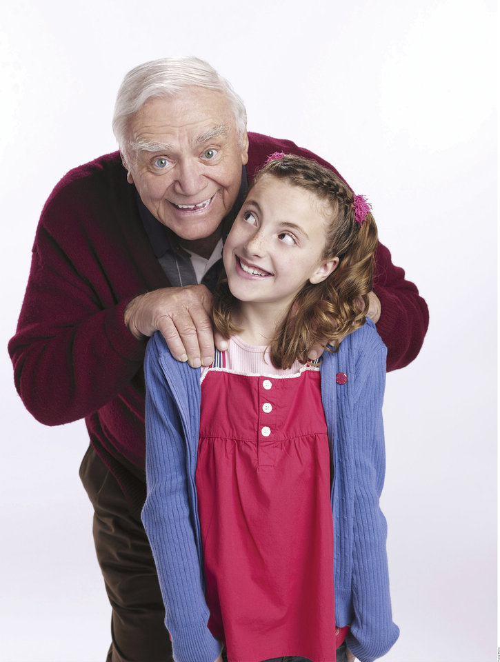 "Ernest Borgnine and Juliette Goglia star in the Hallmark televison movie ""A Grandpa for Christmas.""    ORG XMIT: 0711130921053479"