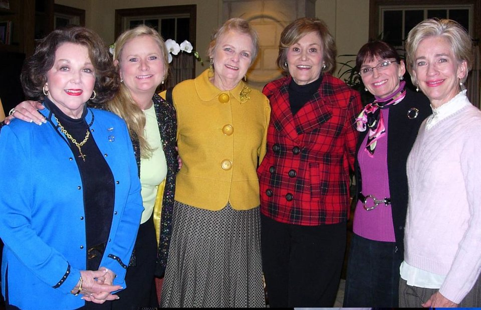 Betty Crow, Kitty Little, Sue Shellabarger, Kay Revell, Betsy Hyde, Alice Dahlgren  	PHOTO BY DAVID FAYTINGER, FOR THE OKLAHOMAN