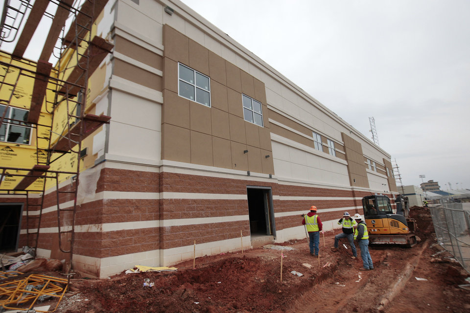 Photo - Freshman Academy construction at Deer Creek High School. Photo By David McDaniel/The Oklahoman  David McDaniel - The Oklahoman