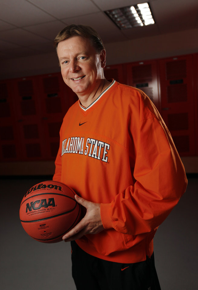 Photo - OSU head women's college basketball coach Kurt Budke poses for a portrait at Oklahoma State University in Stillwater, Okla., Thursday, Oct. 27, 2011.  Photo by Nate Billings, The Oklahoman