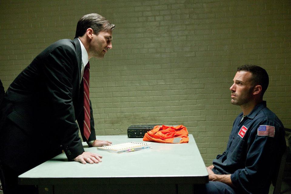 "Jon Hamm, left, and Ben Affleck star in the crime drama ""The Town.""  WARNER BROS. PHOTO"