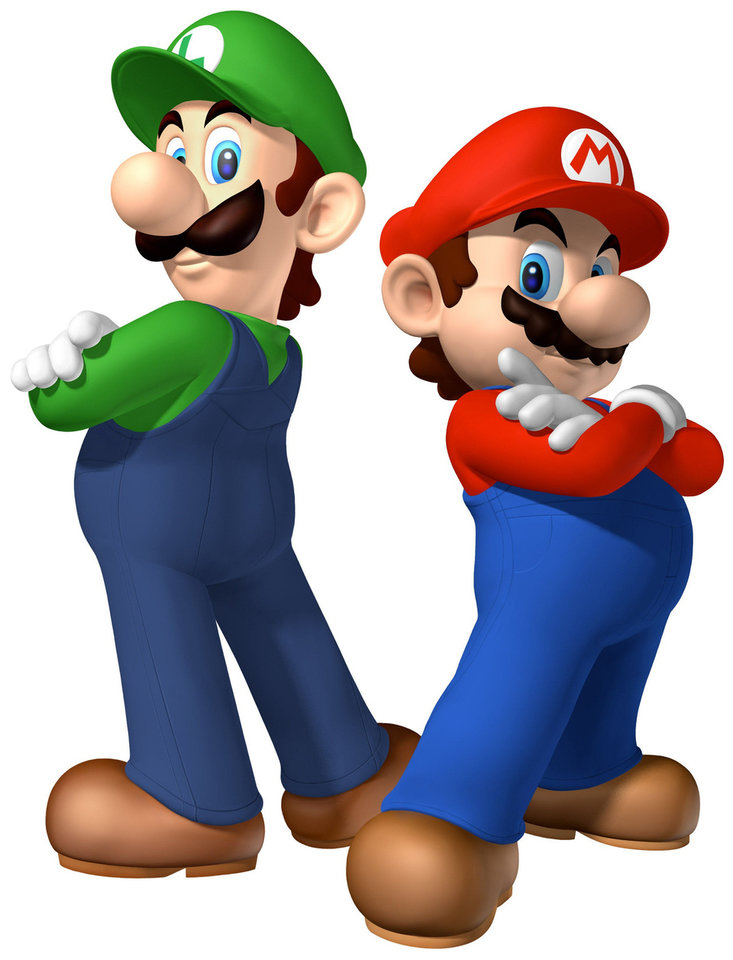 Photo - The hard-working and acrobatic video game plumbers, Luigi and Mario, have always worn their distintive moustaches at their workplace.