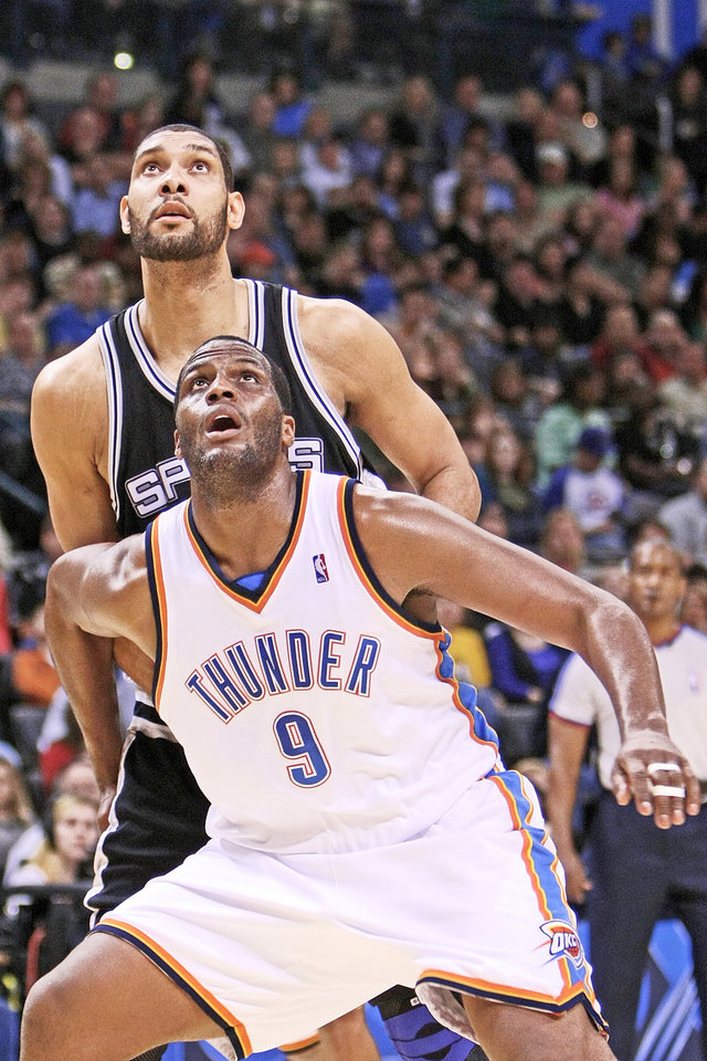 Thunder forward Malik Rose, front, said the team chemistry is good, but that Oklahoma City needs to develop more toughness. Photo by Hugh Scott, The Oklahoman