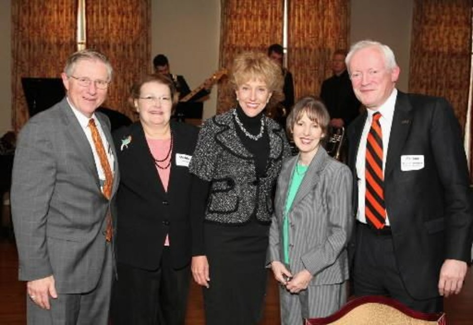 Michael Lorenz, Velda Lorenz, Ann Hargis, Gillian Sherwood, Peter Sherwood. PHOTO BY DAVID FAYTINGER, FOR THE OKLAHOMAN