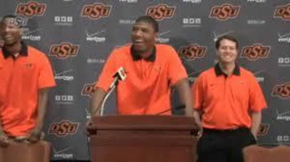 Photo -  Marcus Smart's decision to retun delivered smiles all around at OSU.