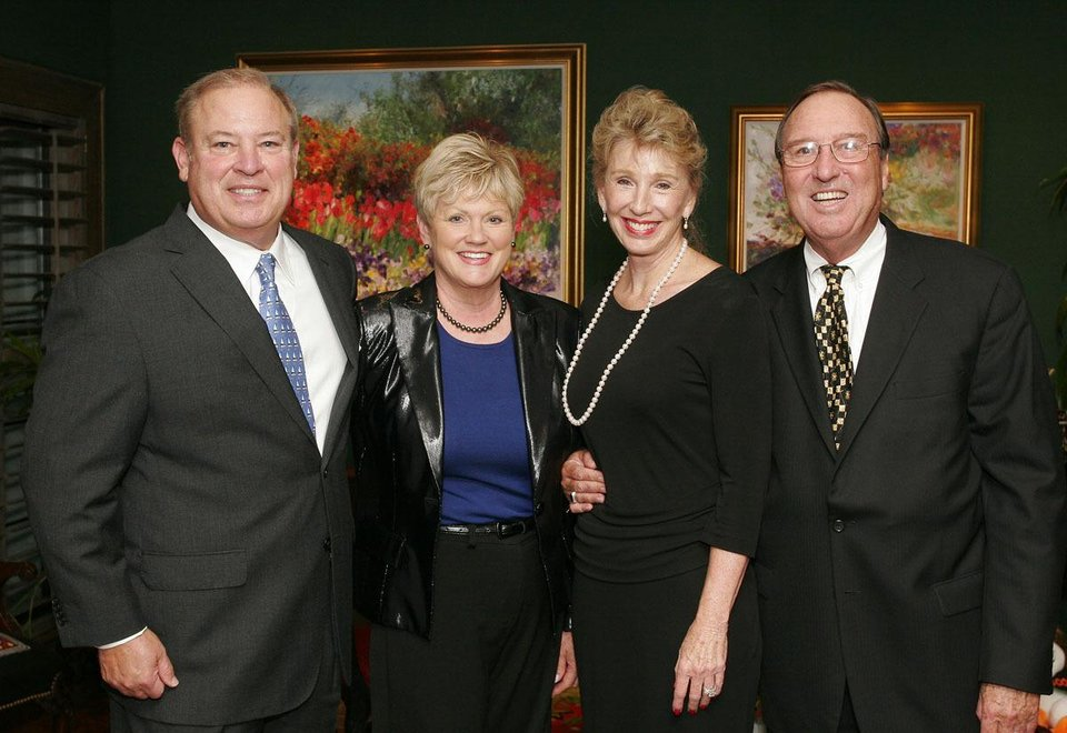 Roger and Barbara Simons, Ann Felton Gilliland and Bob Gilliland.  - Photo by David Faytinger, For The Oklahoman