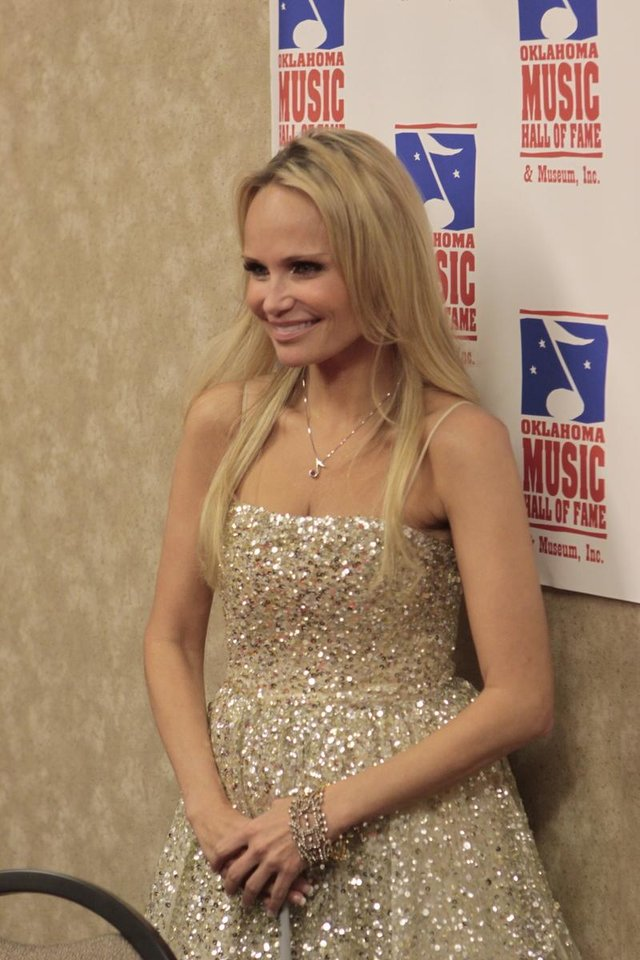 Photo - Kristin Chenoweth at the press conference before the Oklahoma Music Hall of Fame ceremony and concert. Photo by Jay Spear