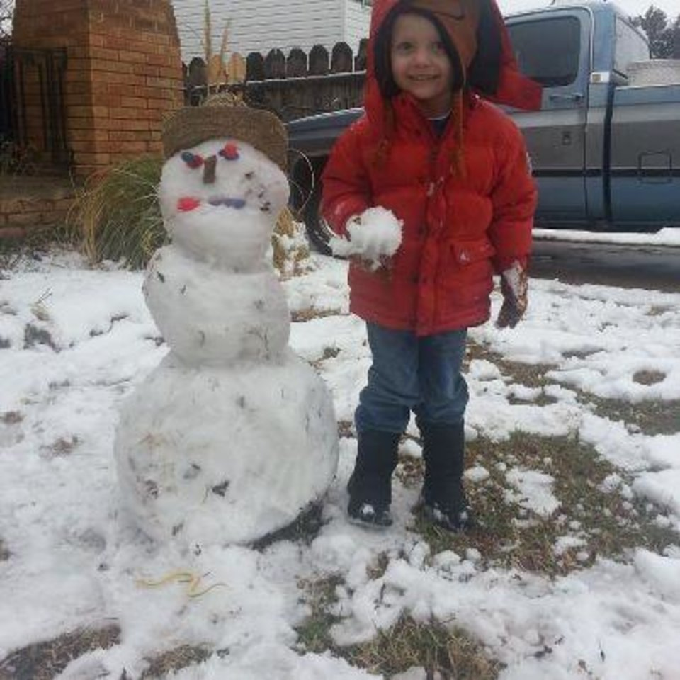 Hunter 1st Snowman Oklahoma City