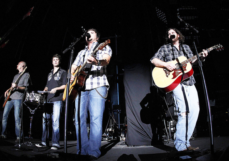 The Eli Young Band performs in June during the CMA Fan Fest in Nashville, Tenn. AP FILE Photo