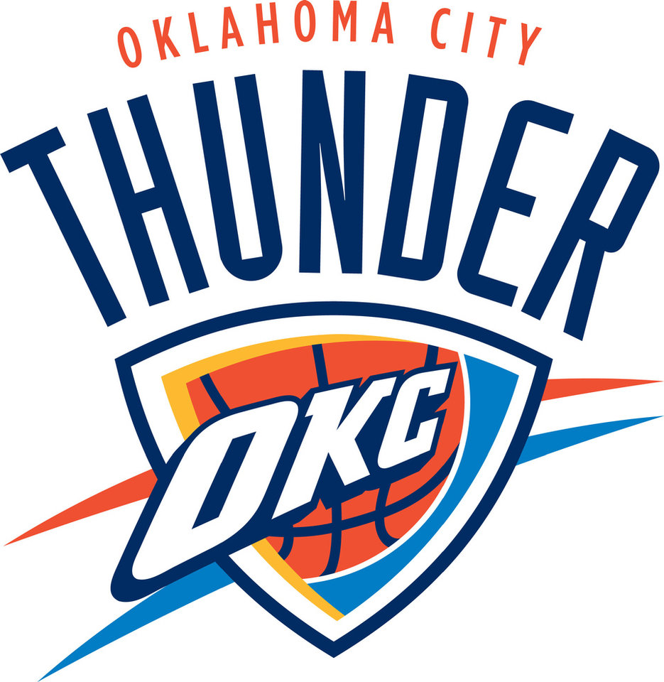 Photo - OKLAHOMA CITY THUNDER NBA BASKETBALL TEAM logo / graphic    ORG XMIT: 1106071926234647