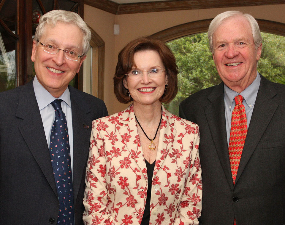 Robert Henry, Jane Jayroe Gamble, Gerald Gamble. Photo by David Faytinger for The Oklahoman __