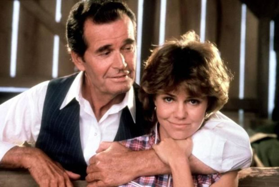 """Photo -  Sally Field and James Garner appear in """"Murphy's Romance."""" Garner received a best actor Oscar nomination for the 1985 romantic drama. Photo provided"""