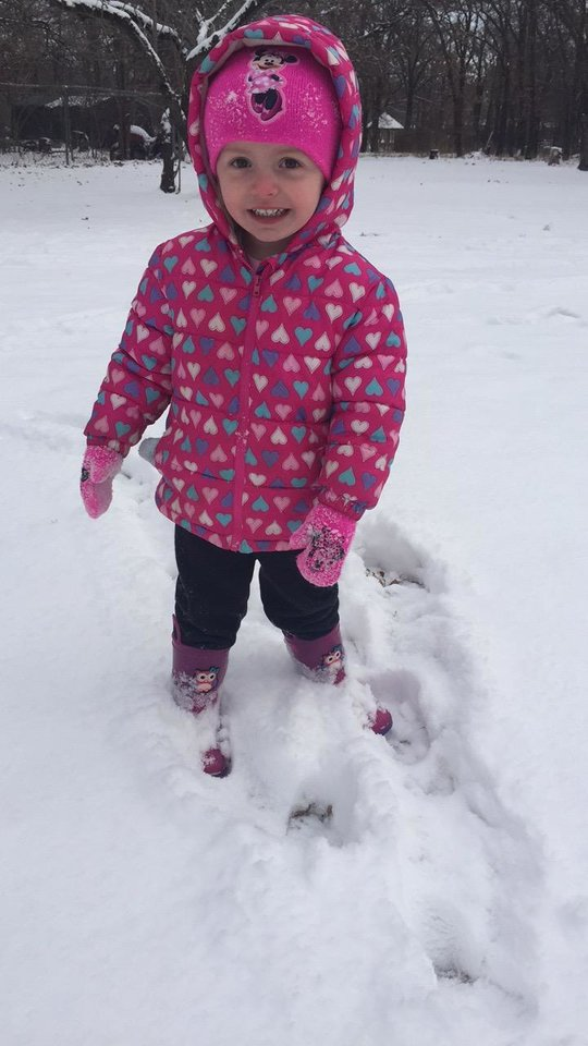 Photo - Addy enjoying 1st snow of the year! 