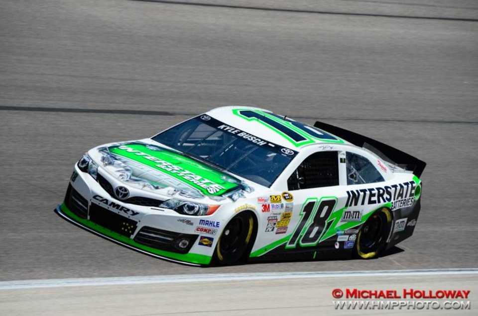 NRA 500 winner Kyle Busch during practice on Friday at Texas Motor Speedway