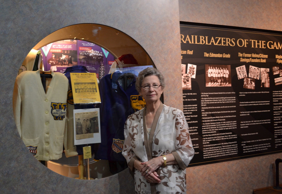 Oma Gean Capps was honored in June at the Women\'s Basketball Hall of Fame as one of the players on the Flying Queens. Photo provided.