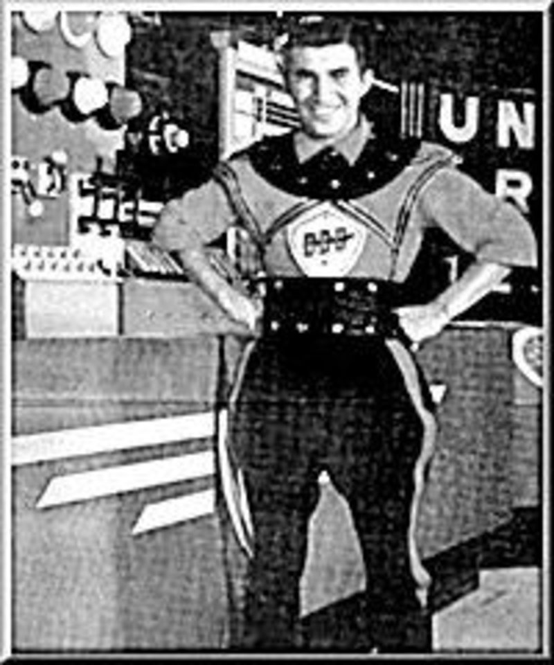 3-D DANNY: Danny Williams as Dan D. Dynamo in the \'50s space show.