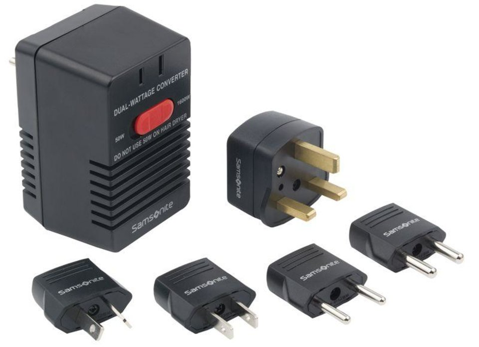This undated photo provided by the Consumer Product Safety Commission shows the Samsonite Dual-Wattage Travel Converter Kit. Samsonite has recalled the converter kits, used to make standard U.S. and Canadian appliances usable abroad, because they can overheat if a load in excess of 50 watts is applied to the converter while in the 50-watt setting. This poses a fire and burn hazard to consumers. (AP Photo/Consumer Product Safety Commission)