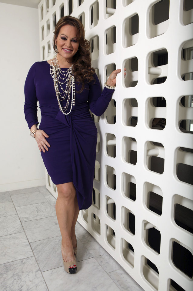 In this picture taken March 8, 2012, Mexican-American singer and reality TV star Jenni Rivera poses during an interview in Los Angeles. The wreckage of a small plane believed to be carrying Mexican-American music superstar Jenni Rivera was found in northern Mexico on Sunday, Dec. 9, 2012, and there are no apparent survivors, authorities said. (AP Photo/Reed Saxon)