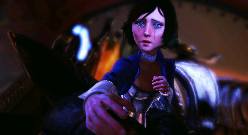 Photo - FILE - This publicity photo released by 2K Games/Irrational Games shows the character, Elizabeth, in a scene from the video game