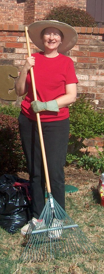 Margaret Biggs, President of the Briarcreek Neighborhood Association, spearheads the clean-up effort. Community Photo By: carolyn B. Leonard Submitted By: Carolyn,
