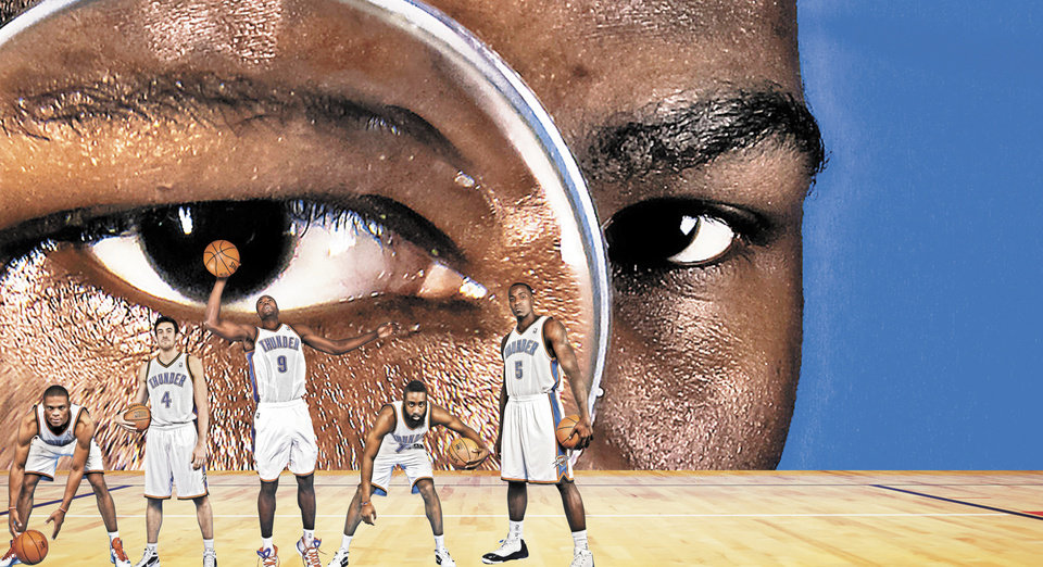 A condensed schedule could magnify Kevin Durant and the Thunder's talent and opportunity. PHOTOS BY CHRIS LANDSBERGER, ILLUSTRATION BY BILL BOOTZ, THE OKLAHOMAN