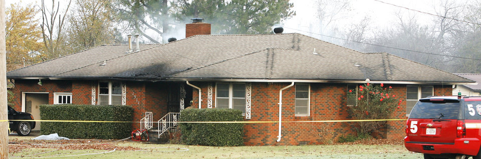 Photo -  This south Oklahoma City rent house was torn down after a drug dealer and three women were killed inside it five years ago. The house was damaged when the victims' bodies were set on fire.   PAUL B. SOUTHERLAND -  PAUL B. SOUTHERLAND
