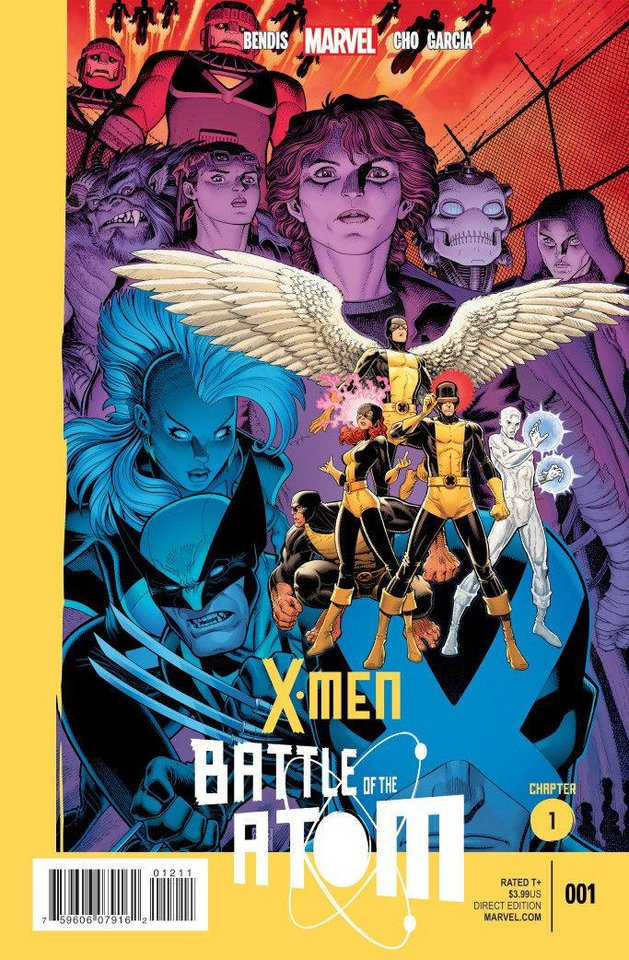 "The cover to ""X-Men: Battle of the Atom"" No. 1 is shown. Image provided by Marvel Comics <strong></strong>"
