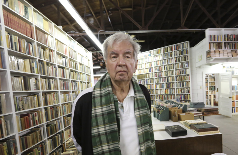 Photo - This April 30,  2014 photo shows Pulitzer Prize-winning author Larry McMurtry during a tour of his book store in Archer City, Texas. The author of almost 50 books including novels, biographies and essay collections who has had simultaneous careers as a screenwriter and bookseller, has a new novel out Wednesday, May 7, called
