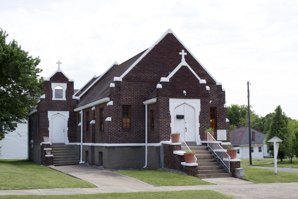Photo - St. Philip's Episcopal Church in Muskogee is among five properties that the Oklahoma State Historic Preservation Office announced last week had been listed on the National Register of Historic Places. AP PHOTO