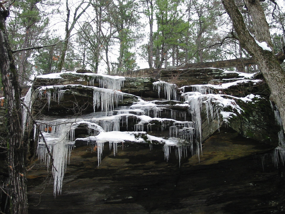 Heavner, Okla. Winter in the Ruin Stone Park.<br/><b>Community Photo By:</b> Billy Sparks<br/><b>Submitted By:</b> Billy, Choctaw