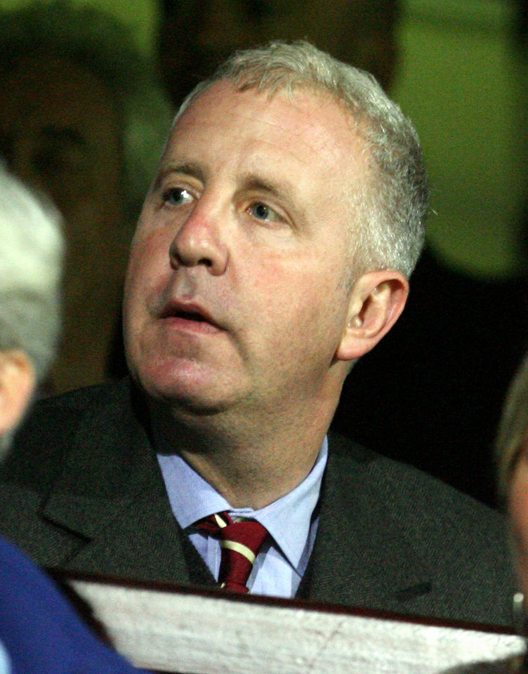 Photo - FILE - This is a Wednesday, Sept. 20, 2006 file photo of Aston Villa's American owner Randy Lerner as he takes his seat to watch his new club, during their English League Cup soccer match against  Scunthorpe United at Glanford Park, Scunthorpe, England. Aston Villa owner Randy Lerner said Monday May 12, 2014 that he is looking to sell the Premier League club. (AP Photo / Simon Dawson)*