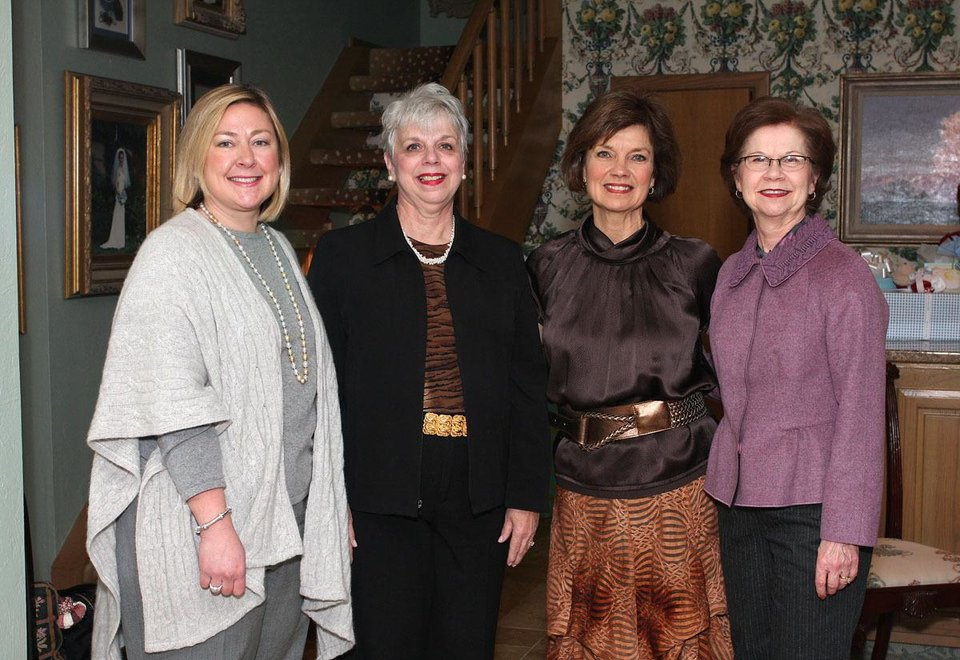Bebe MacKellar, Jayne Henline, Janie Axton, Sue Goodman. PHOTO BY DAVID FAYTINGER, FOR THE OKLAHOMAN