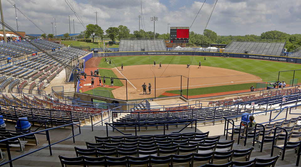 Photo - The new and improved ASA Hall of Fame Stadium during on Wednesday, May 28, 2014 in Oklahoma City, Okla.  Photo by Chris Landsberger, The Oklahoman