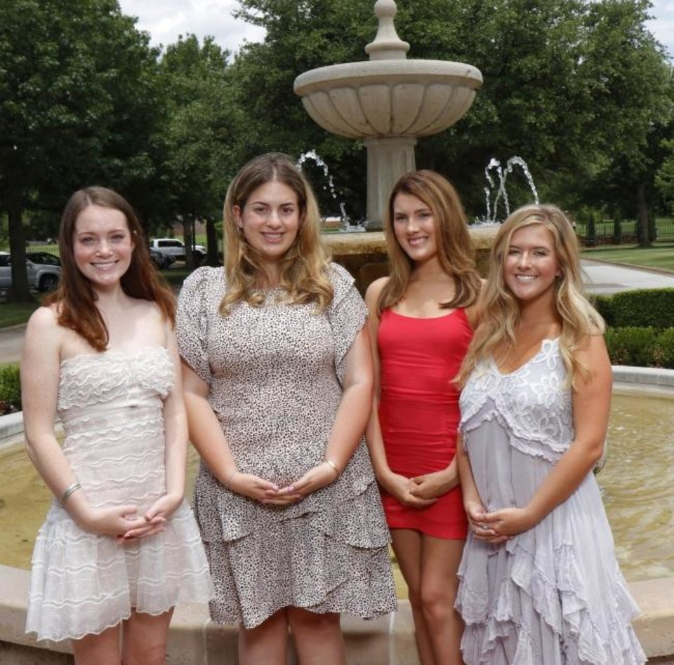 Photo -  Kate Abernathy, Margo Naifeh, Natalie Hugos and Raylee Lewis. [DOUG HOKE PHOTO/THE OKLAHOMAN]