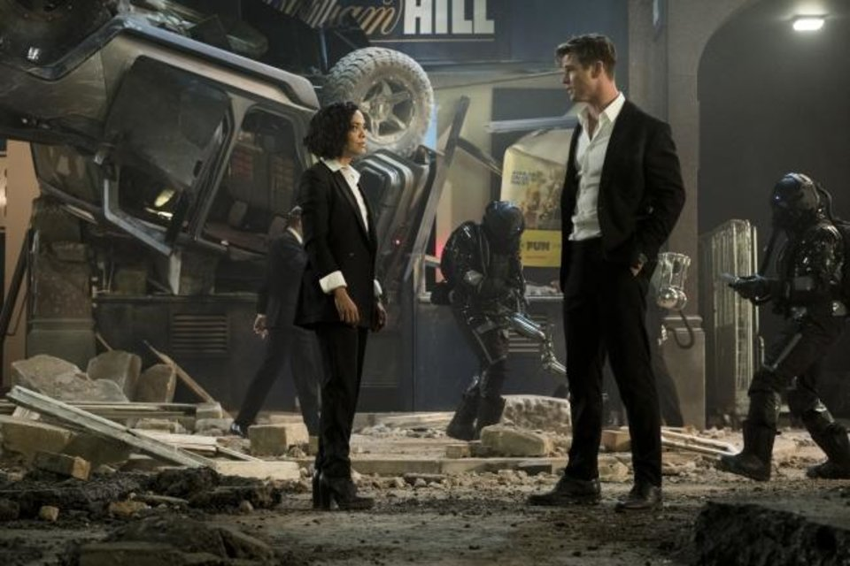 Photo -  Em (Tessa Thompson) and H (Chris Hemsworth) appear in a scene from