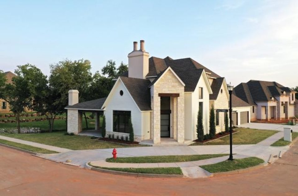 Photo -  The Central Oklahoma Home Builders Association Project House, at 2229 Stone Mill Court in the Waters Edge at Stone Mill addition in Yukon, was built by John and Carrie Nail, of John Nail Homes, for the Parade of Homes Fall Classic. [PHOTO PROVIDED]
