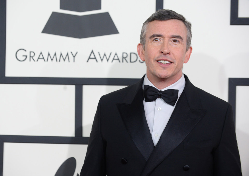 Photo - Steve Coogan arrives at the 56th annual Grammy Awards at Staples Center on Sunday, Jan. 26, 2014, in Los Angeles. (Photo by Jordan Strauss/Invision/AP)