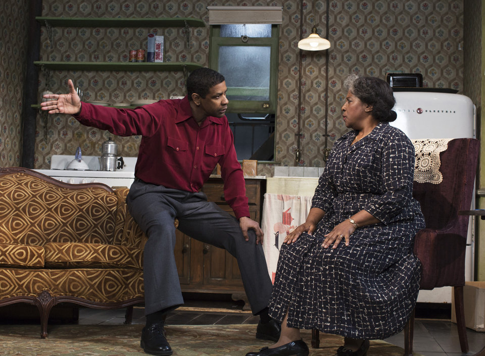 Photo - FILE - This file image released by Philip Rinaldi Publicity shows Denzel Washington, left, and LaTanya Richardson Jackson during a performance of
