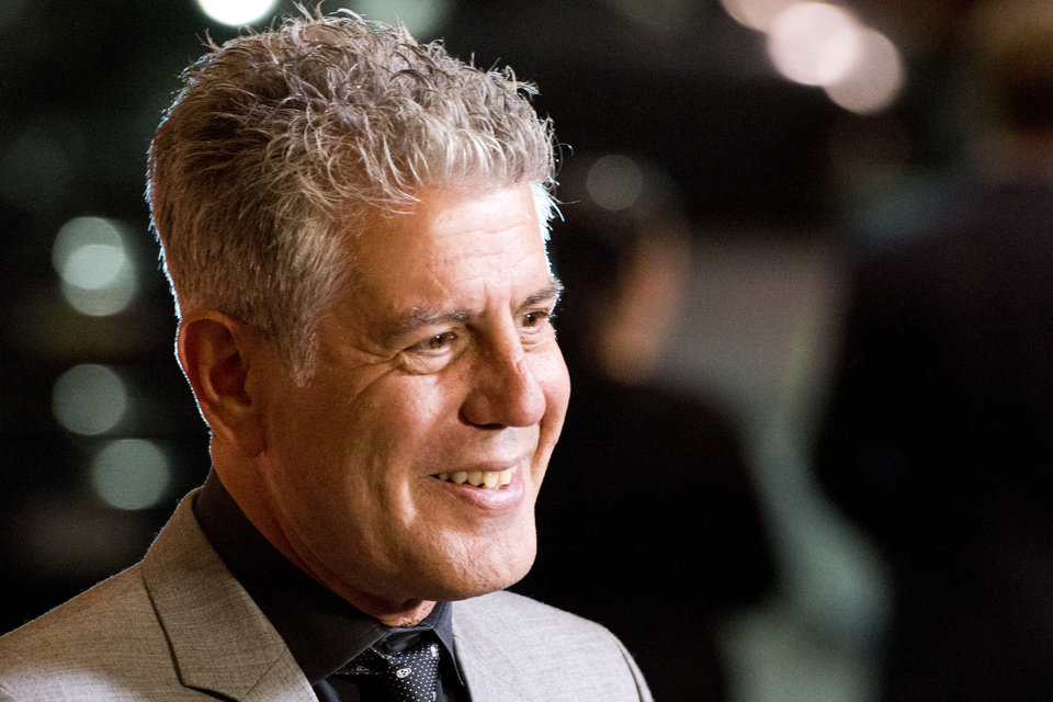 FILE - In this Oct. 11, 2012 file photo, Anthony Bourdain attends