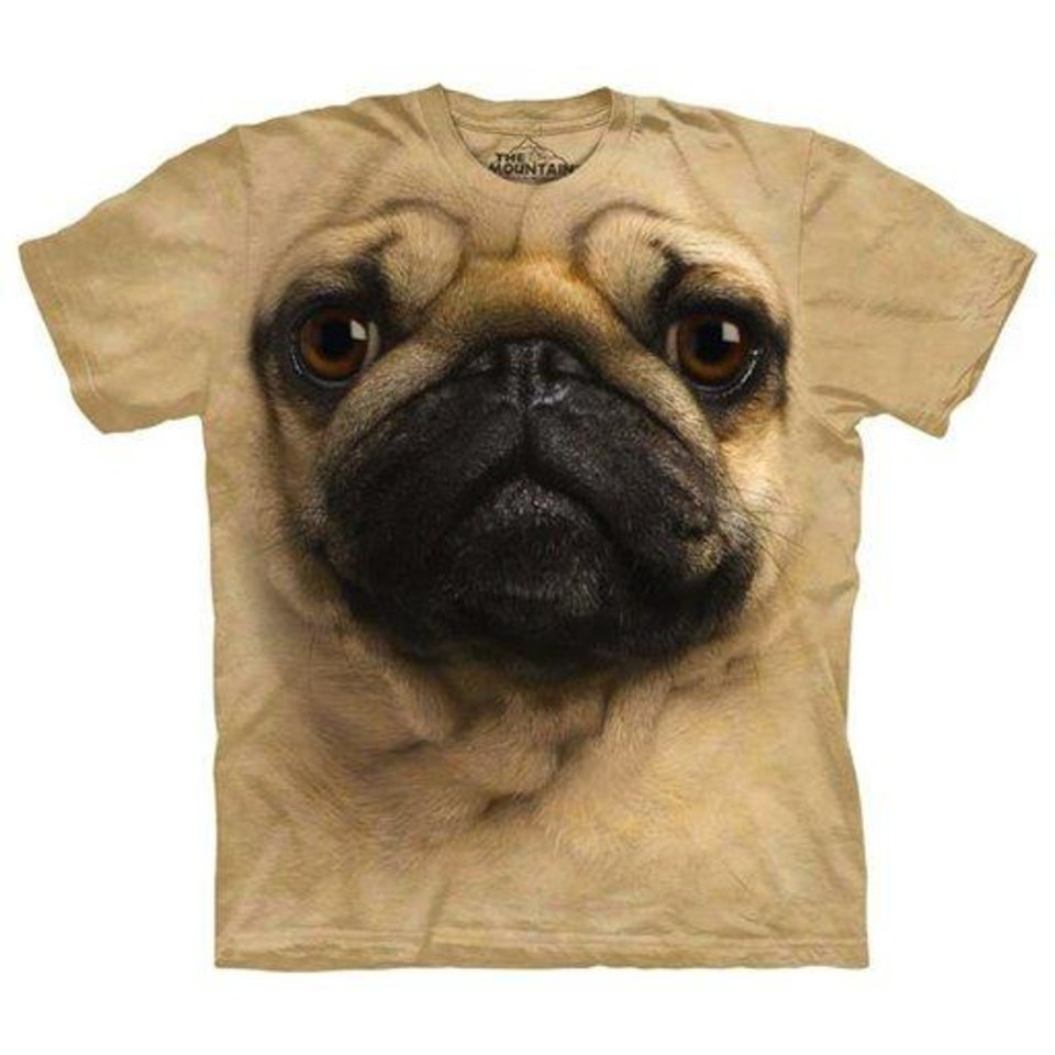 This undated image provided by Fab.com shows a pug T-Shirt available on Fab.com. Bradford Shellhammer, founder of Fab.com, which sells unusual items like inventive keyholders and canvas carryalls with images of iconic designer handbags, says gifts fit into three categories: the things everyone knows you want, the bad surprises and the amazing things that makey you wonder, �How did I live without it?� Shellhammer predicts the Mountain Pug Tee will be a top seller this season. (AP Photo/Fab.com)