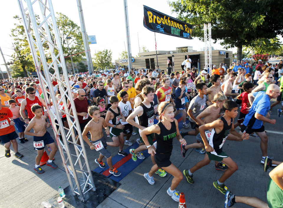 More than 1,200 runners take to the streets Saturday as the Brookhaven Run gets under way.