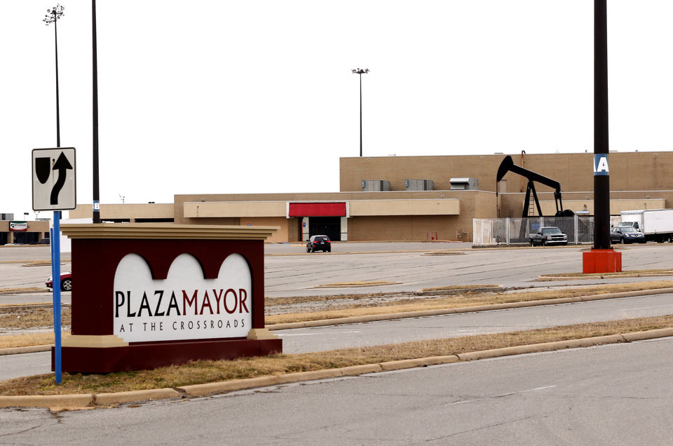 Photo -  Santa Fe South High School and another public charter school are to go into the former Montgomery Ward space at Plaza Mayor, the former Crossroads Mall. [Photo by Steve Sisney, The Oklahoman]