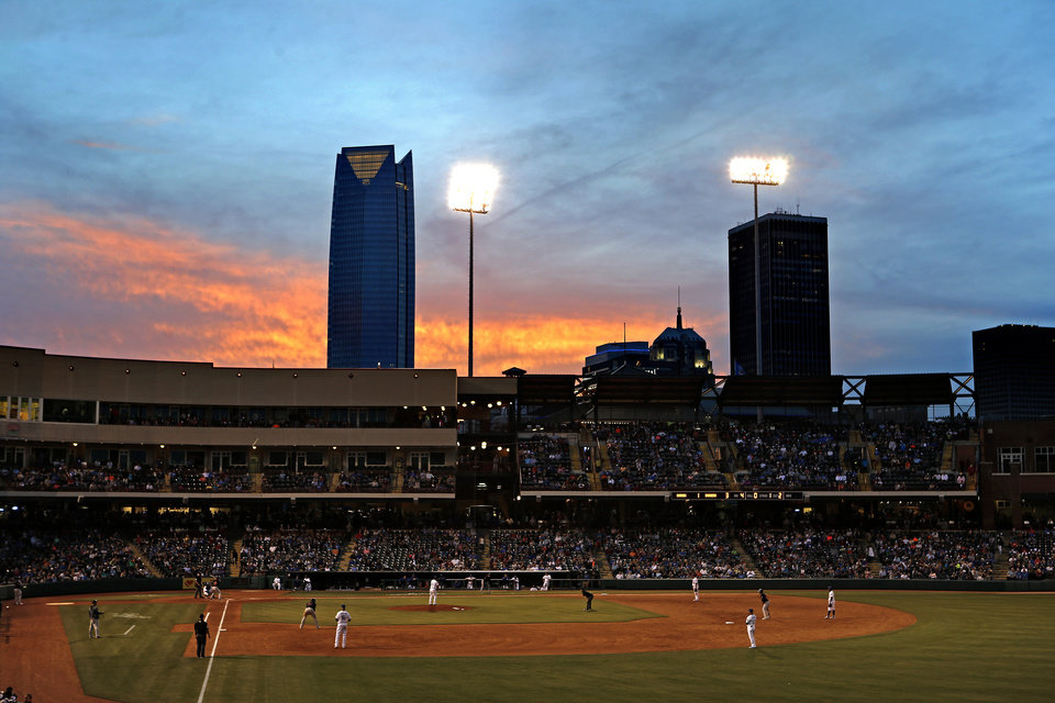Photo -  Chickasaw Bricktown Ballpark sits regally as the foundation of the Oklahoma City renaissance. [PHOTO BY BRYAN TERRY, THE OKLAHOMAN]