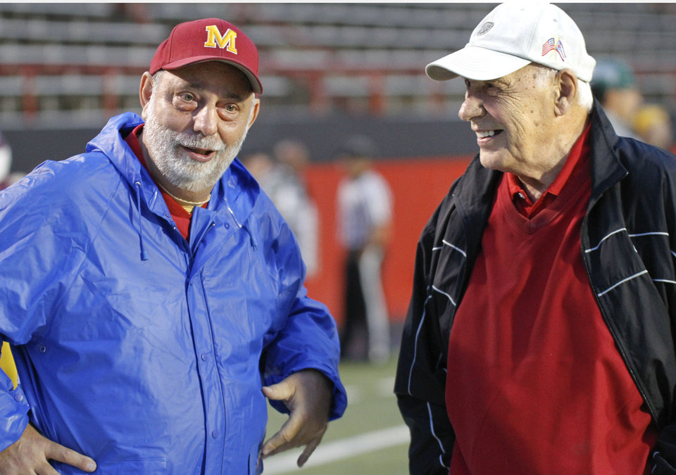 Don Bucci, right, is currently Cardinal Moody�s athletic director. Photo Courtesy Youngstown Vindicator