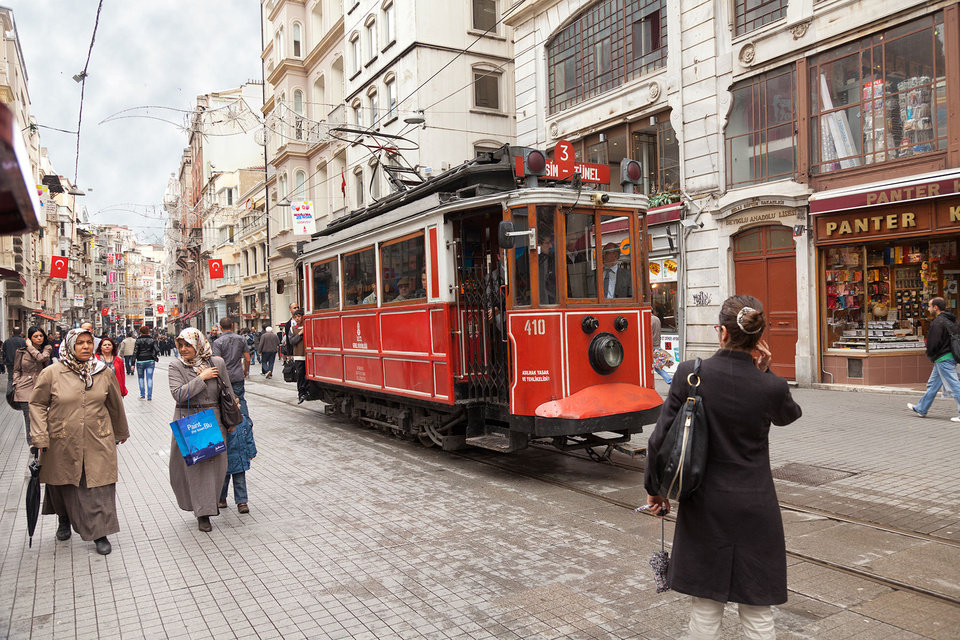 Photo - Lined with shops and restaurants, Istanbul's Istiklal Street is teeming with people and boasts a nostalgic tram that runs the length of the street.  Photo provided