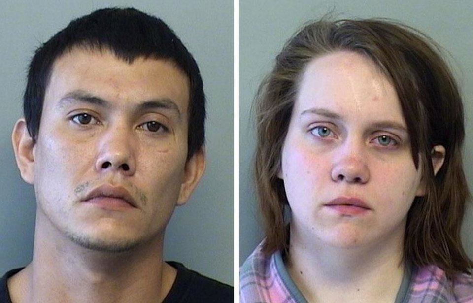 From left to right, Scott Bolden, 24, and Heidi Benjamin, 19, were jailed on Wednesday after an unresponsive child was reported at their residence in the 6900 block of East Marshall Place.