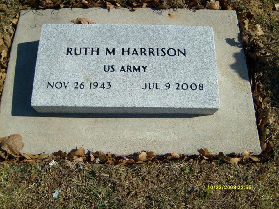 Ruth Harrison's grave stone. Photo provided. <strong></strong>